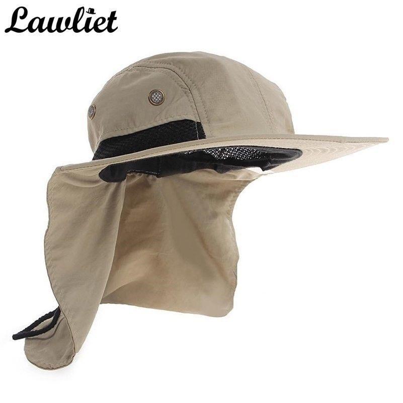 Summer Hat Sunshade Fishing Outdoor Hiking Uv Protection Hats Khaki Ebay Mens Sun Hats Hiking Women Hiking Hat