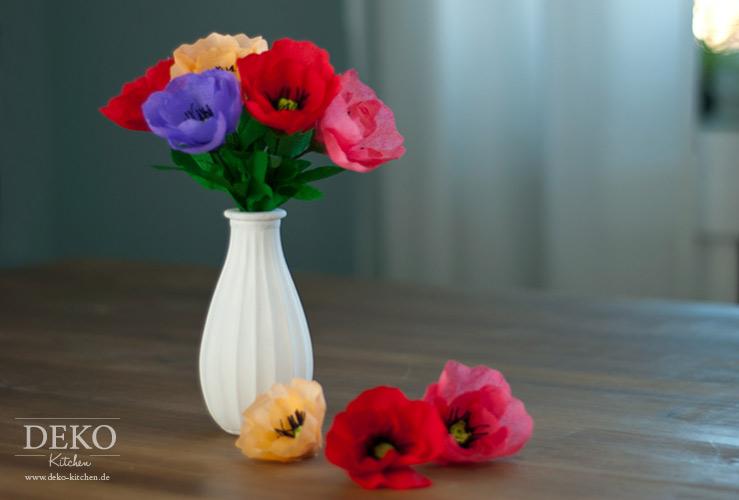 Diy Herbstliche Anemonen Aus Krepppapier Deko Kitchen Krepppapier Blumen Aus Papier Herbstblumen
