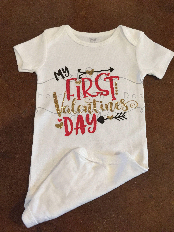 Babies first valentine/'s day First Valentine/'s Day onsie Valentine onsie