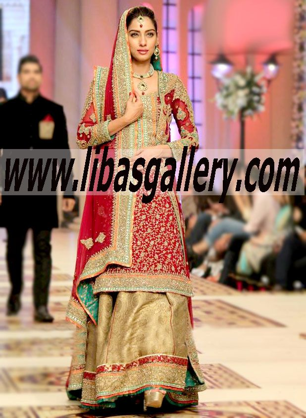 Mehdi Red Evening Bridal wear Dresses 2014-2015 Buy Online Mehdi ...