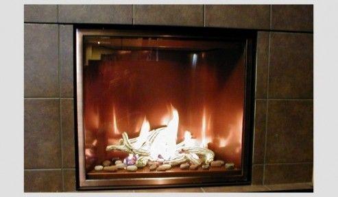 Mendota Fullview Modern Zero Clearance Gas Fireplace Gas