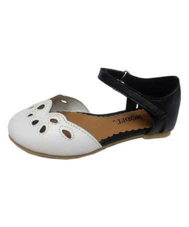 Another great find on #zulily! Black & White Eyelet Damia Flat by Modit #zulilyfinds