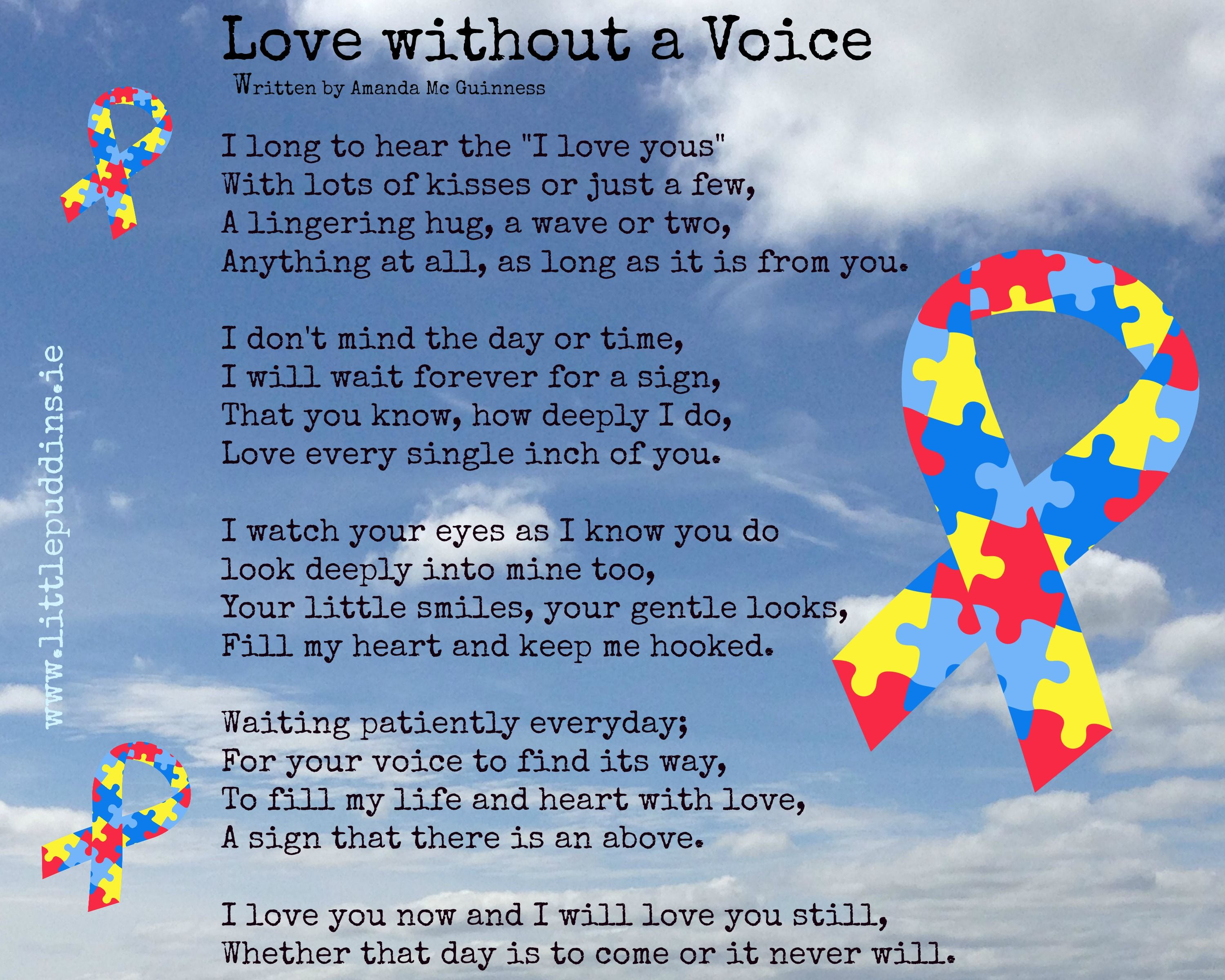 Autism Poem For Conorx Autism Autismpoem I Love You Now And