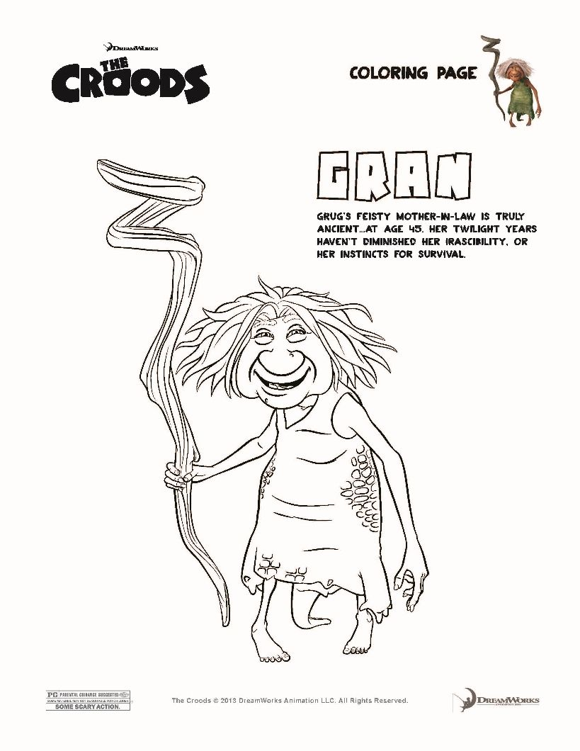 GRAN The Croods coloring page | Coloring Book | Pinterest