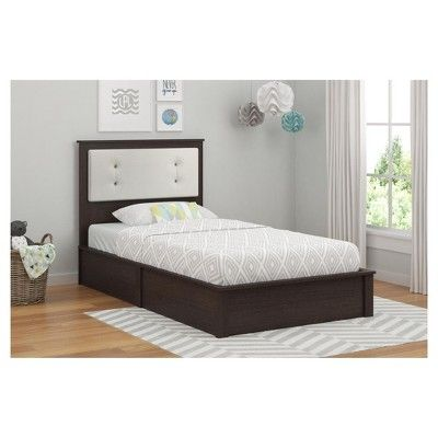 Coral Point Platform Bed Twin Coffee House Plank Room Joy With Images Twin Platform Bed White Upholstery