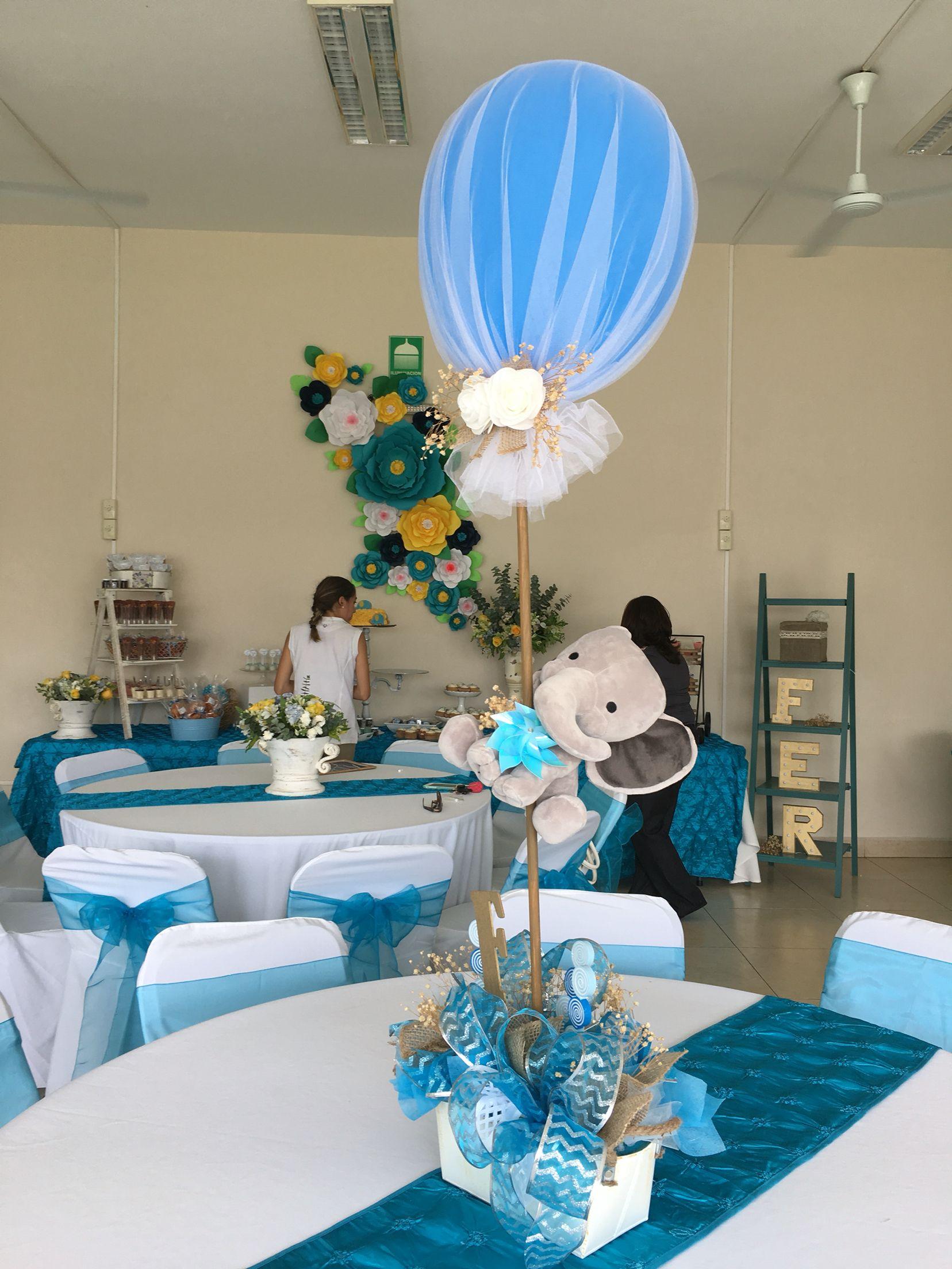 Pin De Chantia Richardson En Baby Shower Ideas Centros De Mesa De Elefante Centros De Mesa De Baby Shower Decoraciones De Fiestas Para Bebes