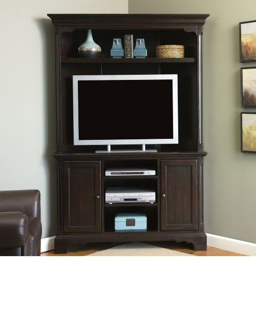 Captivating Corner Entertainment Centers With Hutch