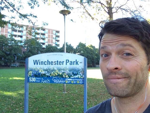 Misha Collins at Winchester Park #MishaCollins