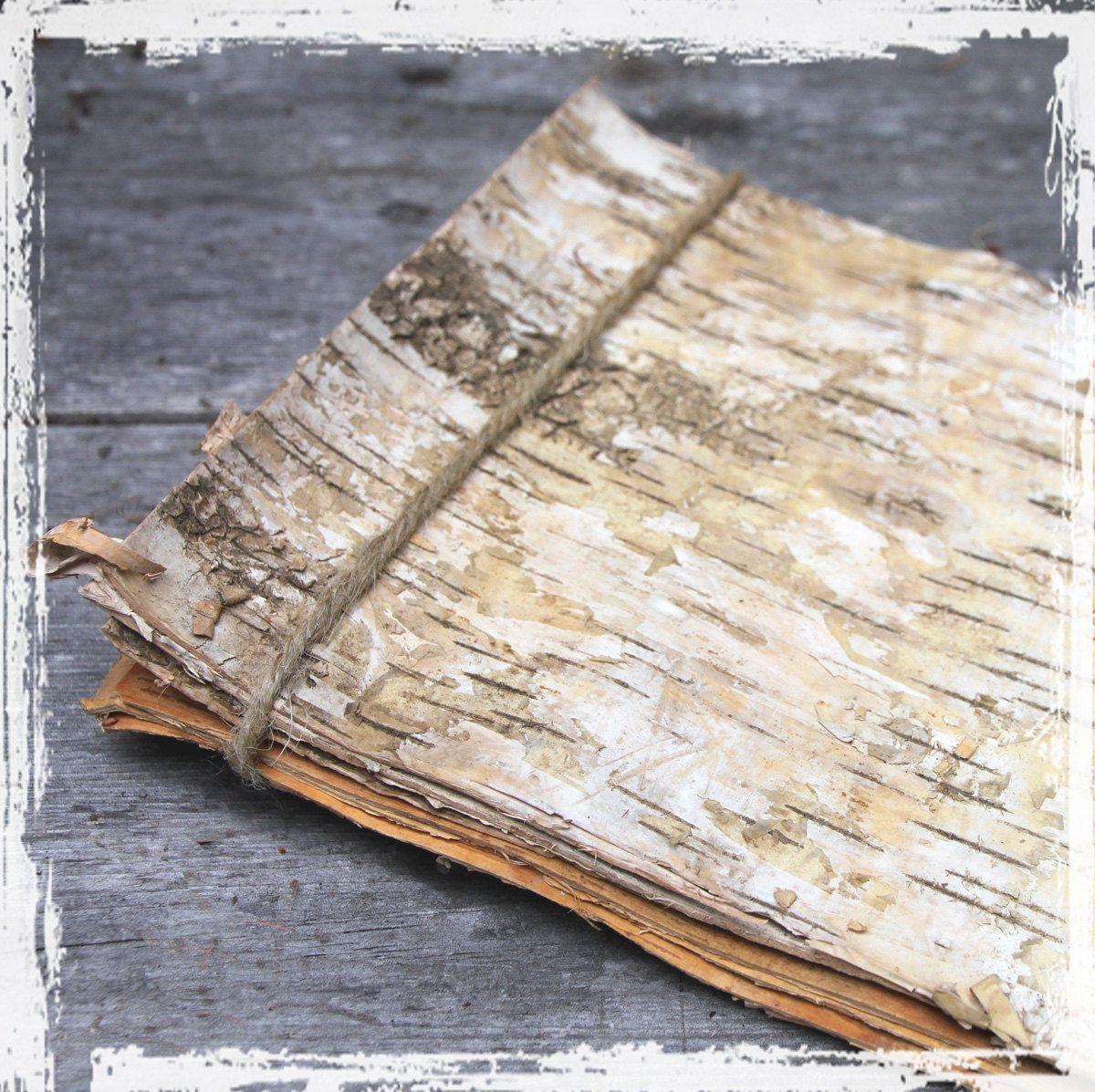 Natural Birch Sheets Bark Veneer Strips 6 By Naturesbountysupply 11 00