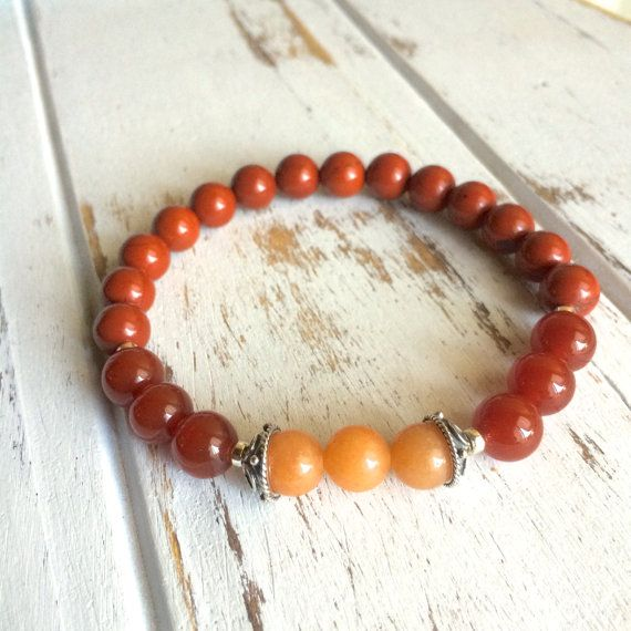 The Sacral Chakra  Genuine Carnelian Red by PeaceOfMindInc on Etsy