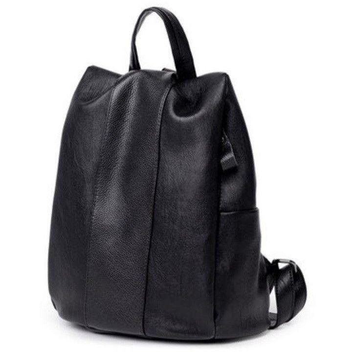5f99572c927b Fashion Women Anti-Theft Handbag Genuine Leather Backpack Casual Bag ...