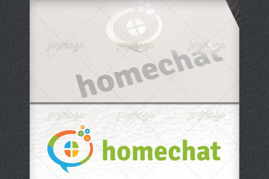 Talk Bubbles Builder Home Chat Logo in 2020 Logo design