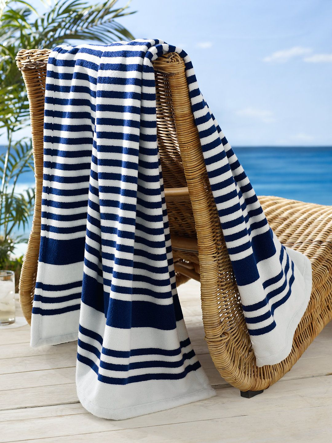 Ralph Lauren Striped Terry Beach Towel For The Spring Summer