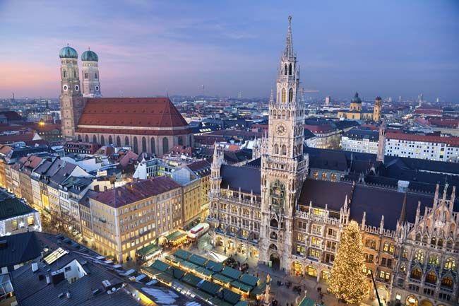 Mercado natalino de Munique