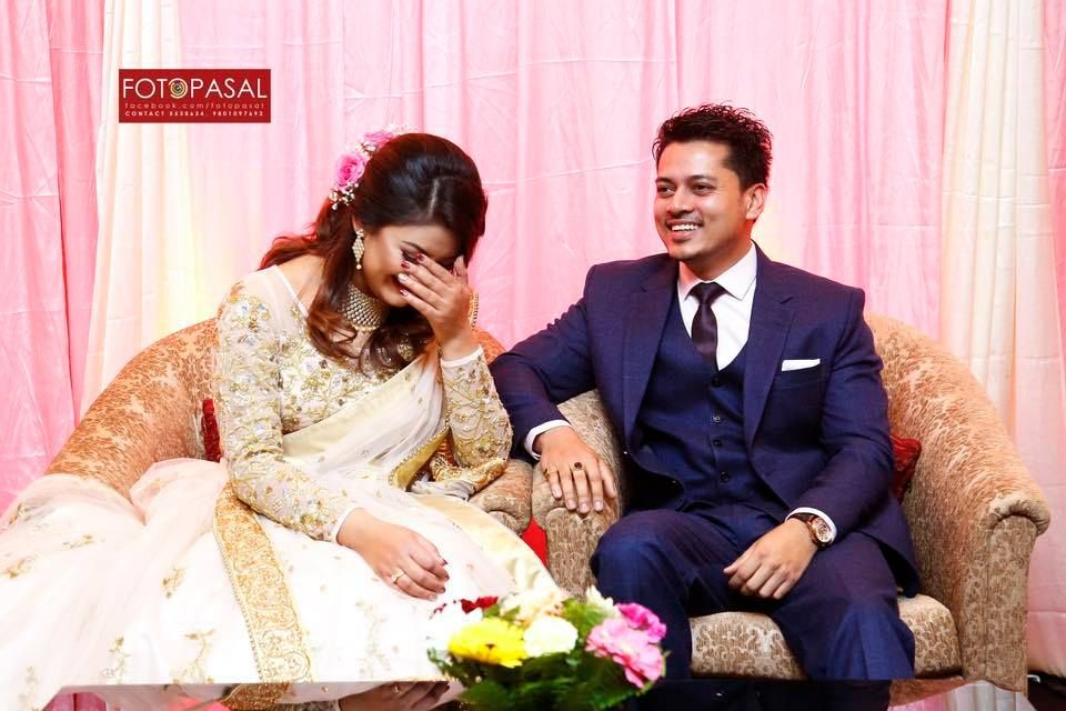 Barsha Raut And Sanjog Koirala Exchanged Their Ring Marriage On