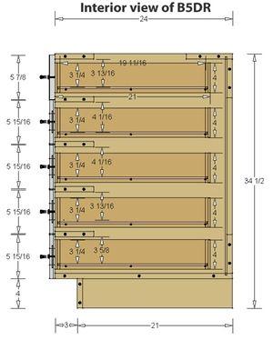 5 Drawer Base Cabinet Building Kitchen Cabinets Diy Custom Closet Kitchen Cabinet Dimensions