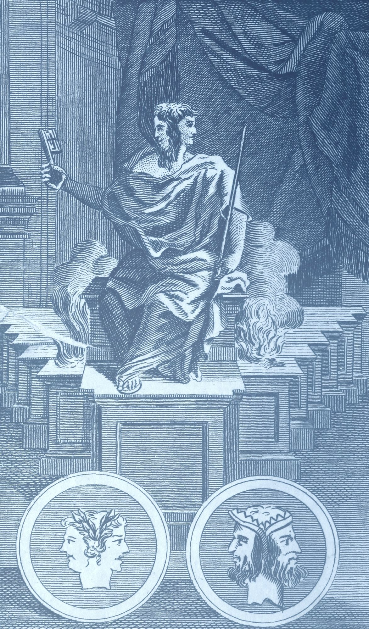 Janus God Of The Beginnings And Endings And Of Doorways Passages And Buildings God Illustrations Roman Gods Janus