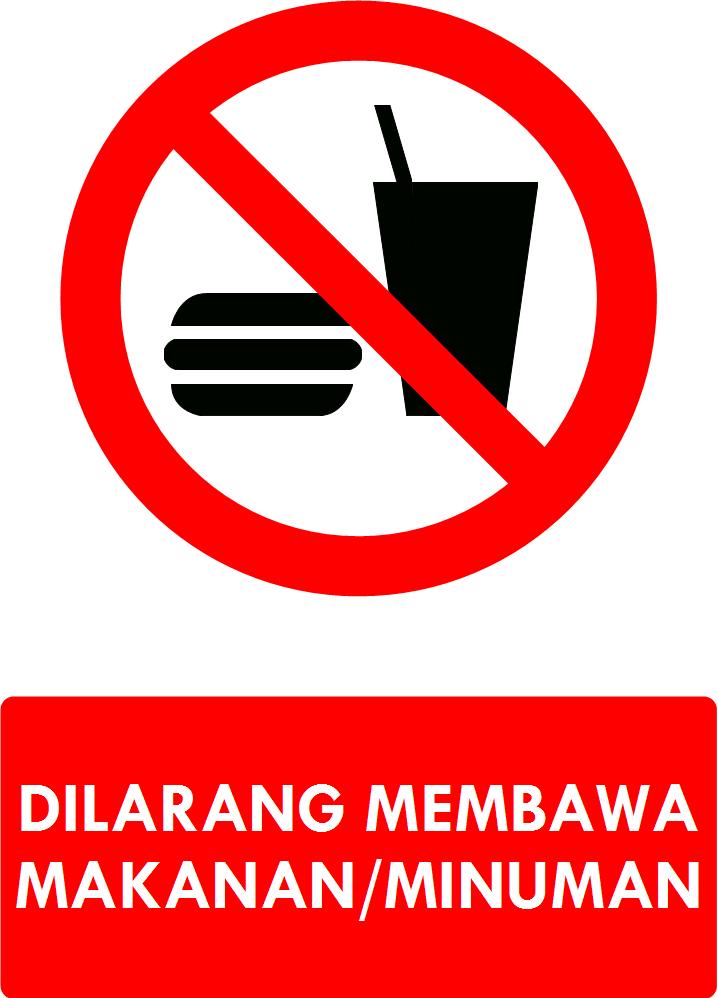 Dilarang Membawa Makanan : dilarang, membawa, makanan, Rambu, Dilarang, Membawa, Makanan/Minuman
