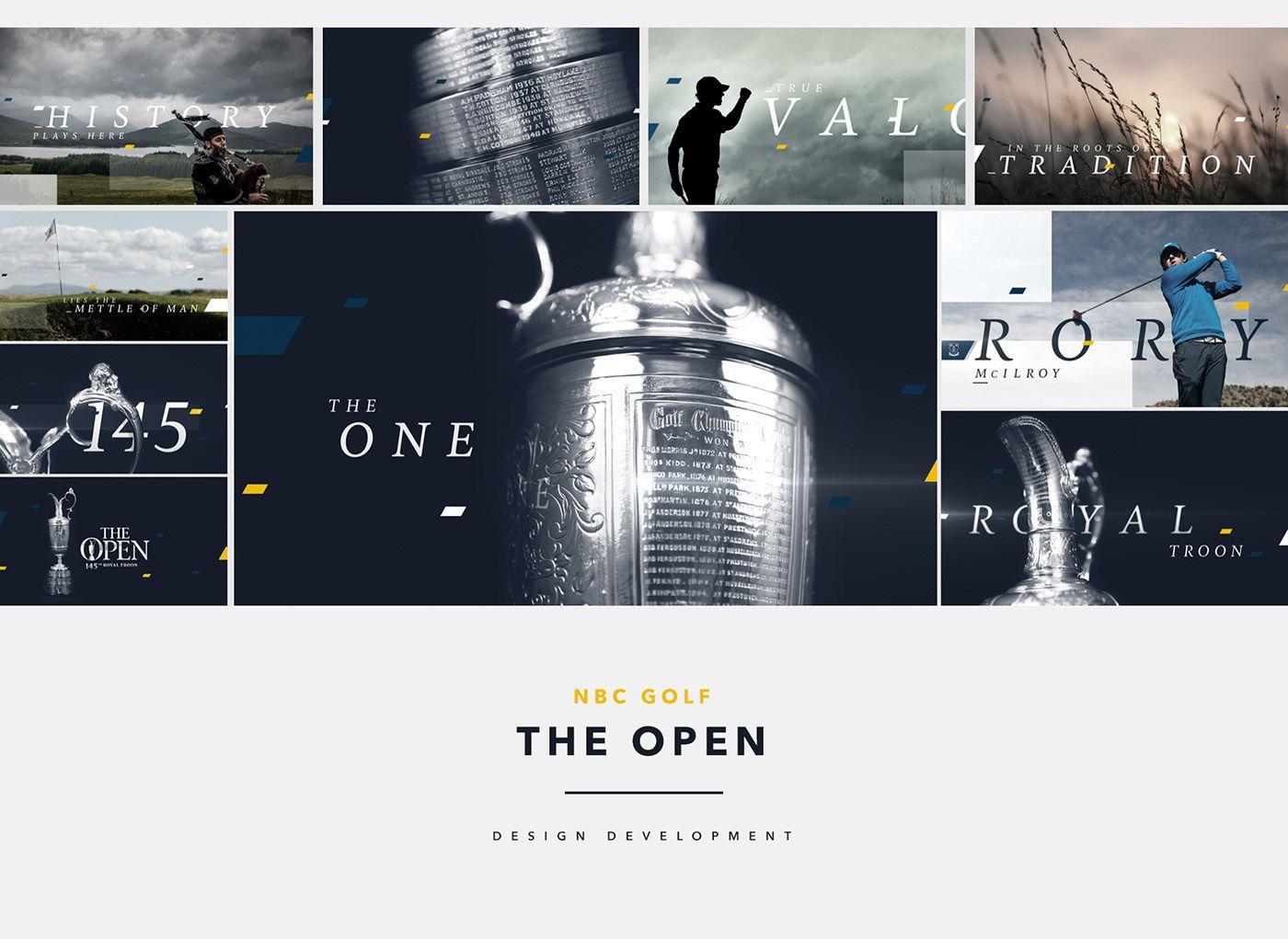 NBC Golf The Open on Behance Design development