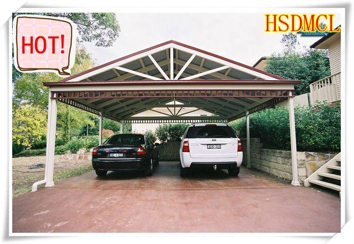 China acero estructura garajes cocheras con techo de - Techos para garajes ...