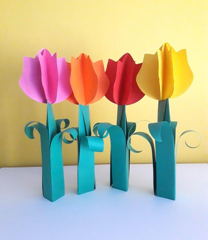 Tulipany Z Papieru 3d Diy Flowers Decor