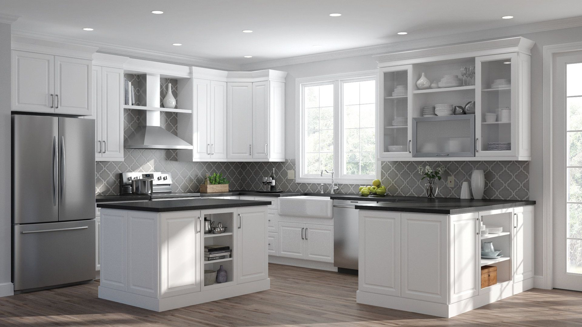 Shop Our Kitchen Cabinets Department To Customize Your Elgin Wall