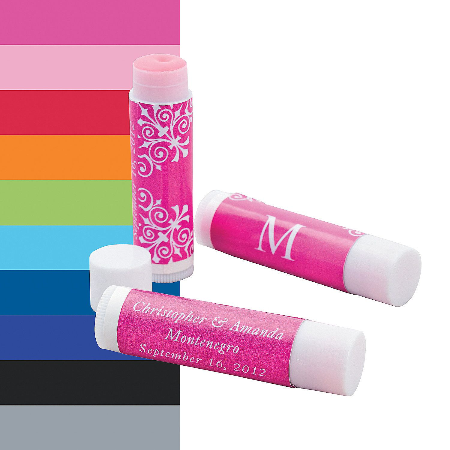 monogrammed lip gloss covers orientaltradingcom would make great shower favors