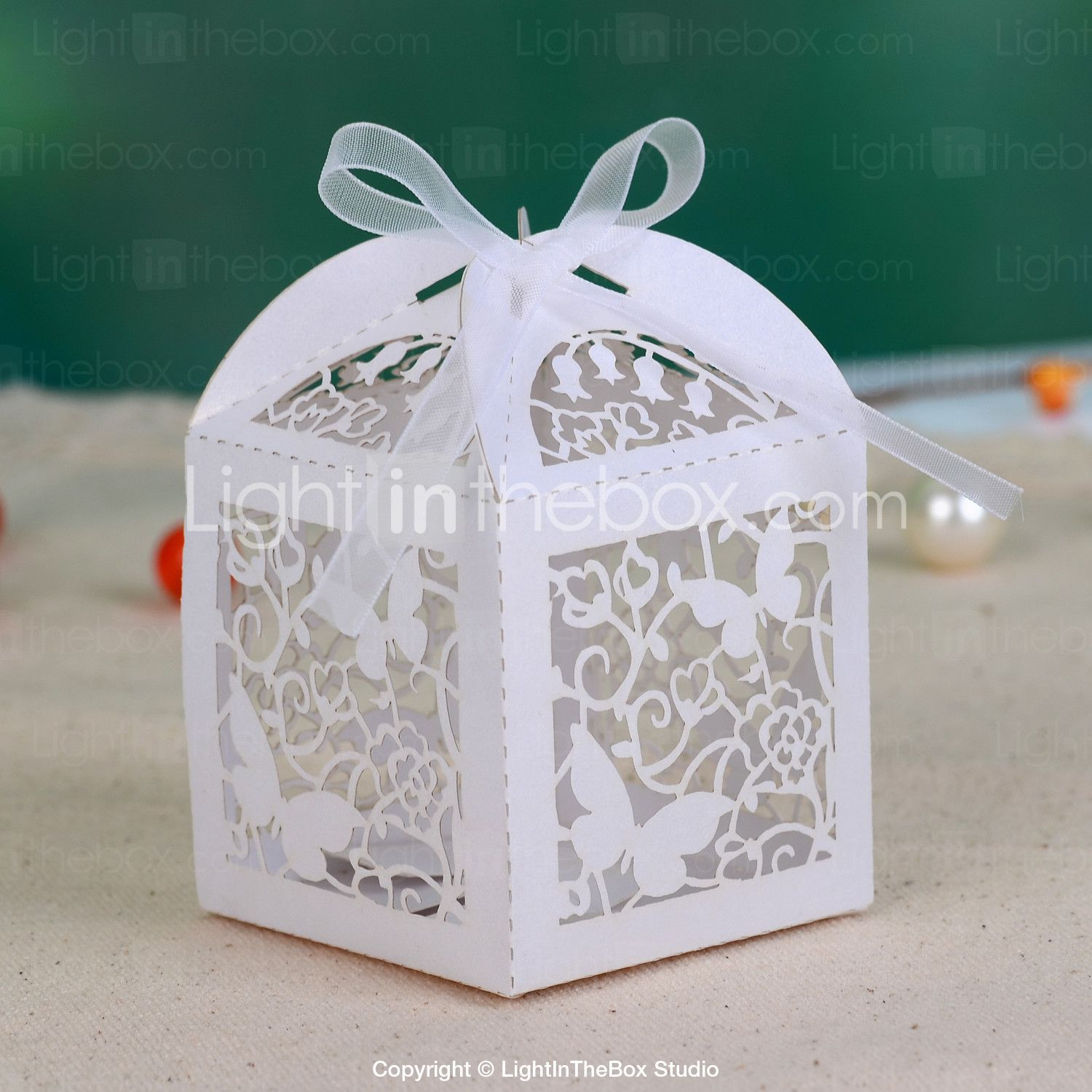 10//50//100 Pcs Love Heart Favor Ribbon Gift Box Candy Boxes Wedding Party DecTS