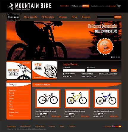 Another Example Of A Cool Mountain Bike Website Design You Can Build An Ecommerce Site Like This At Allyone