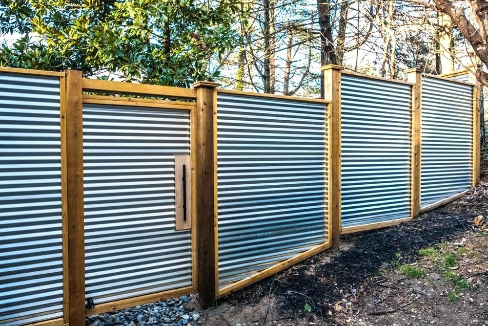 Corrugated Metal Fence Cost Corrugated Metal Fence Metal Fence