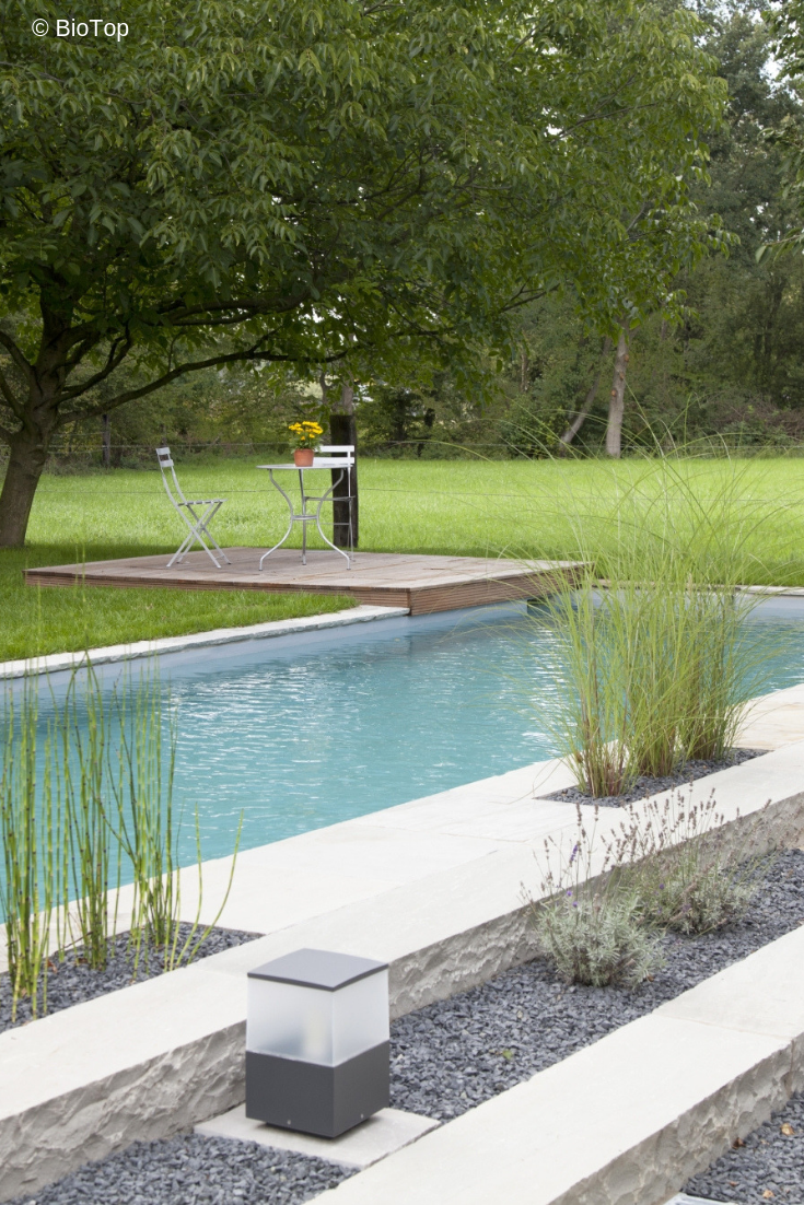 couloir de nage naturel par biotop piscine nage