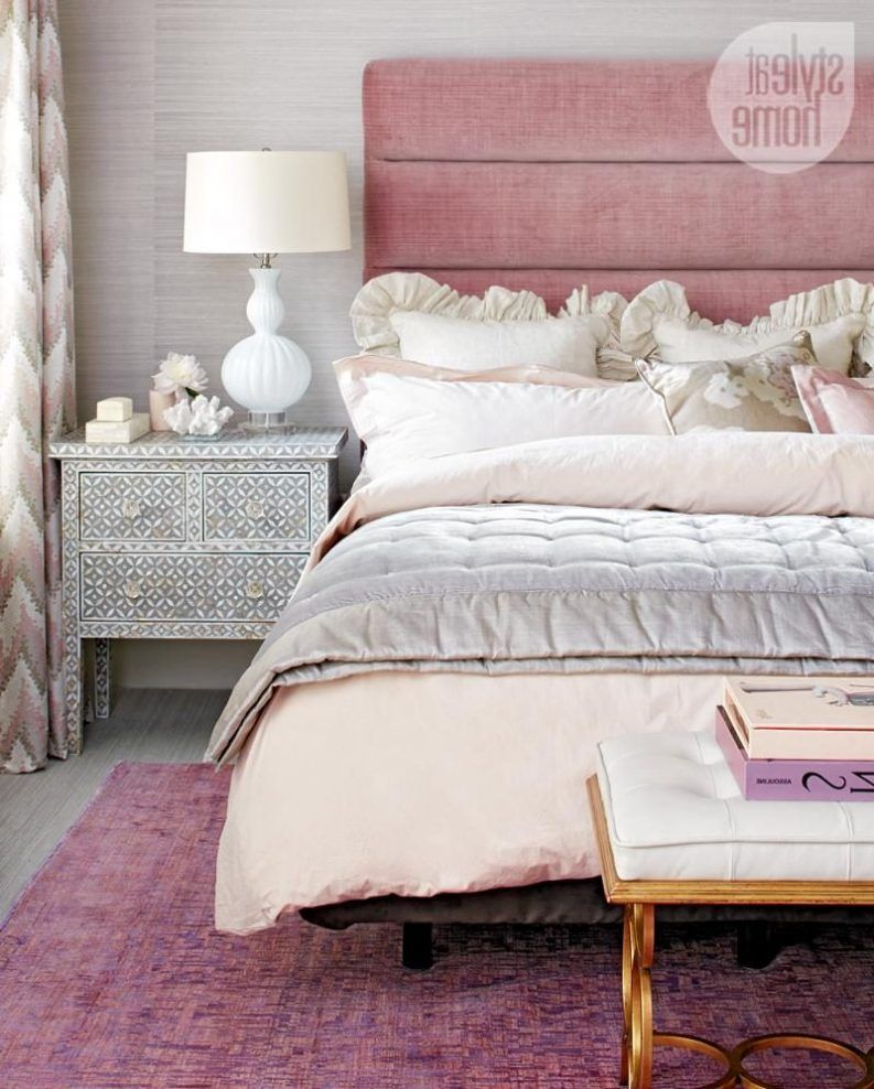 Pink Black And Gold Bedroom Coastal Contemporary Bedroom Features White  Platform Bed White Technology Plastic Air
