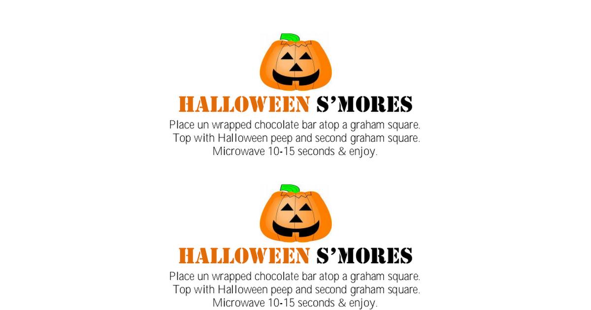 Halloween Peep Smores printable tags.pdf Halloween peeps