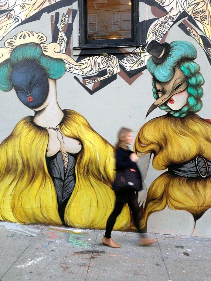MISS VAN http://www.widewalls.ch/artist/miss-van/ #graffiti #urbanart