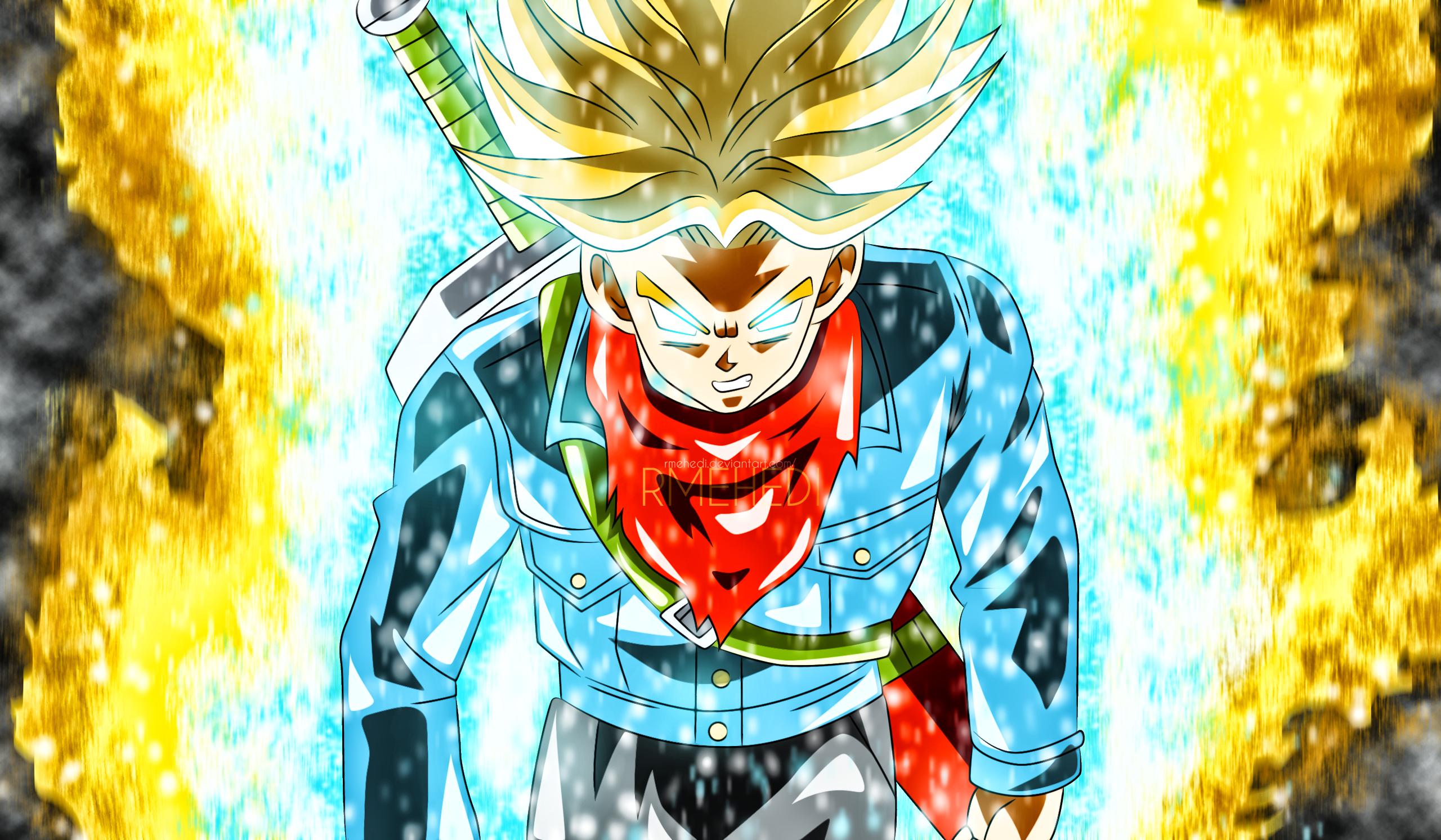 Future Trunks New Form V2 By Rmehedi Dakhii8 Png 2560 1493 Dragon Ball Super Wallpapers Anime Dragon Ball Super Dragon Ball Wallpapers