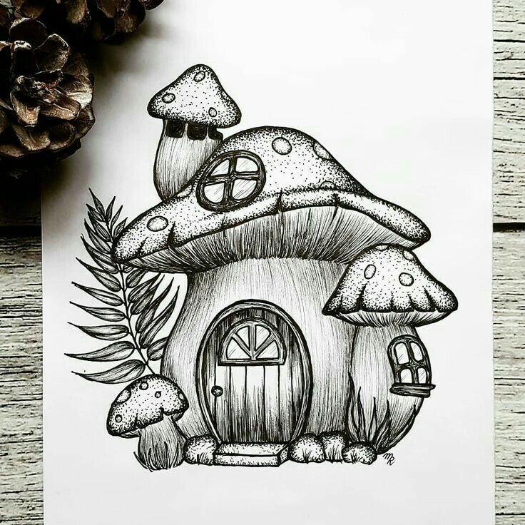 A small mushroom house A small mushroom house idea di Tendenza #a #small #Mushroom #Idea Design #Ide