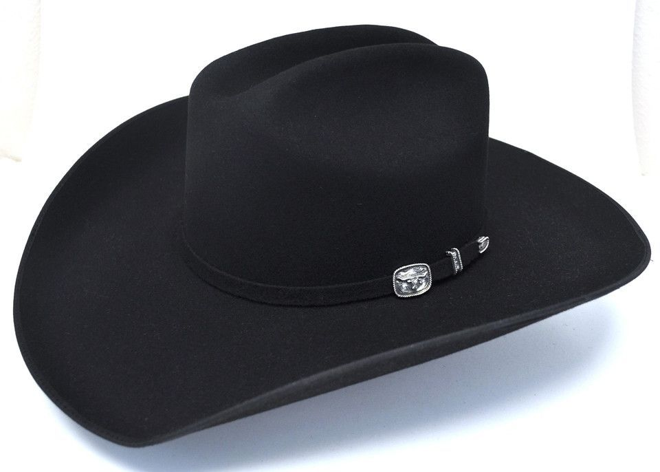 Resistol 3X Longhorn Bound Edge Wool Felt Western Hat-Black  89c0117e05c6