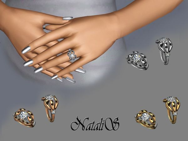 Diamond Engagement Ring By Natalis Sims 3 Downloads Cc Caboodle