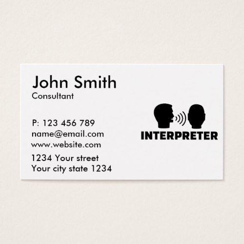 Interpreter business card interpreter pinterest business cards interpreter business card colourmoves