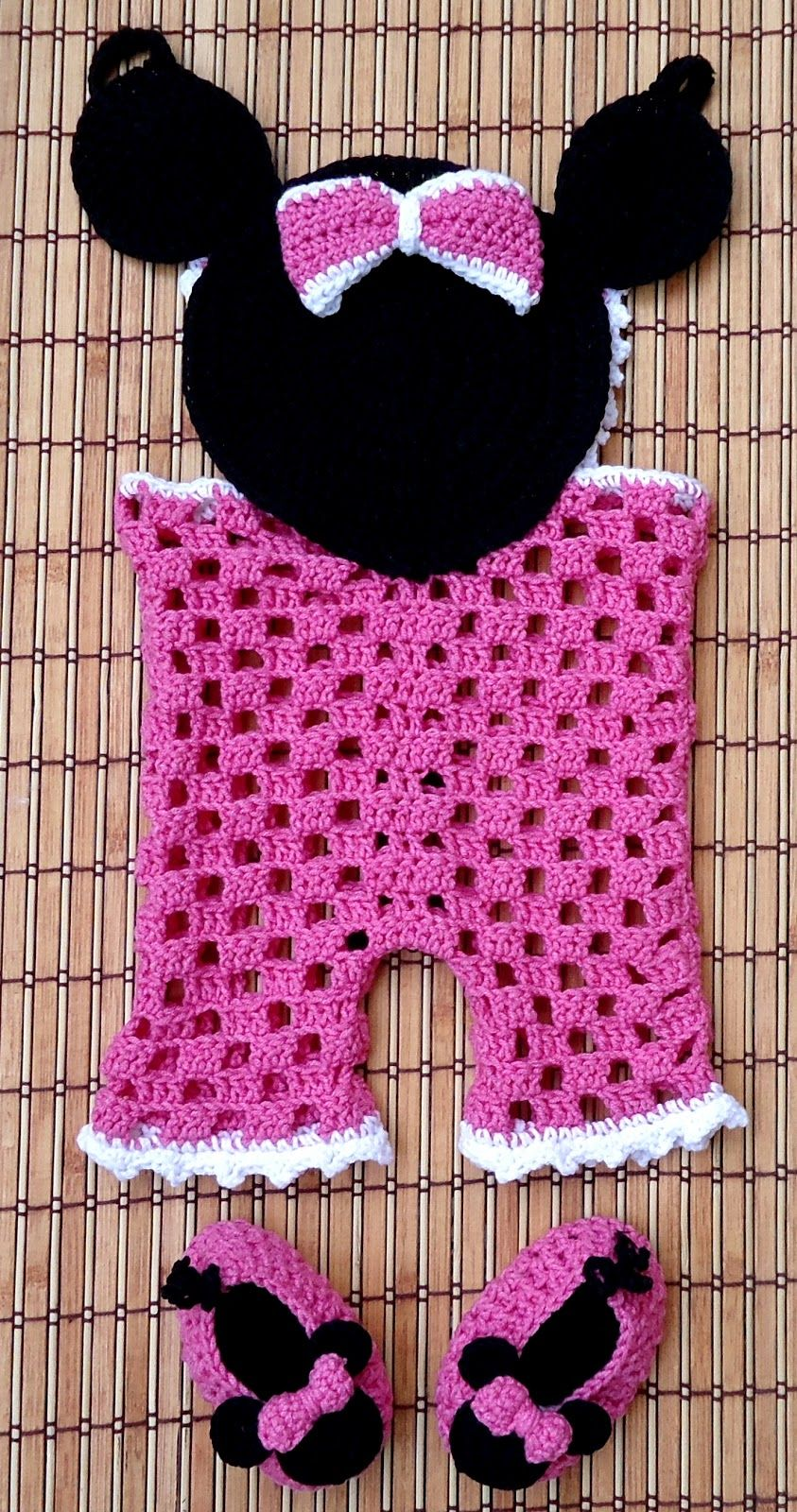 Minnie Mouse Crochet Outfit Pattern | Minnie Mouse Crochet Patterns ...