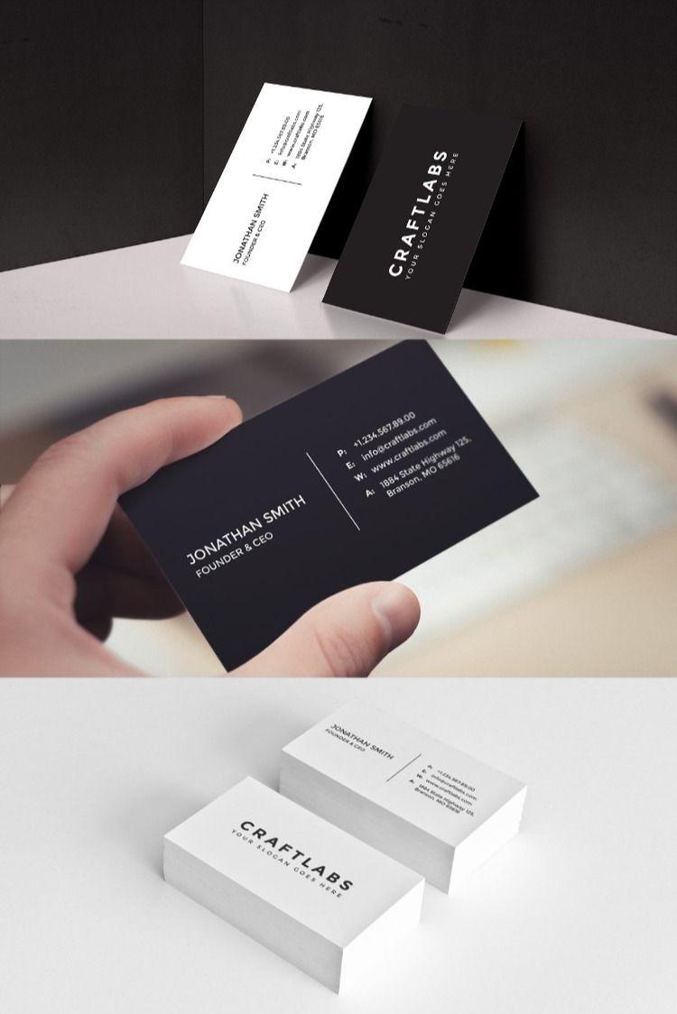 Simple Minimal Business Card 6 Minimalist Business Cards Simple Business Cards Business Cards Creative