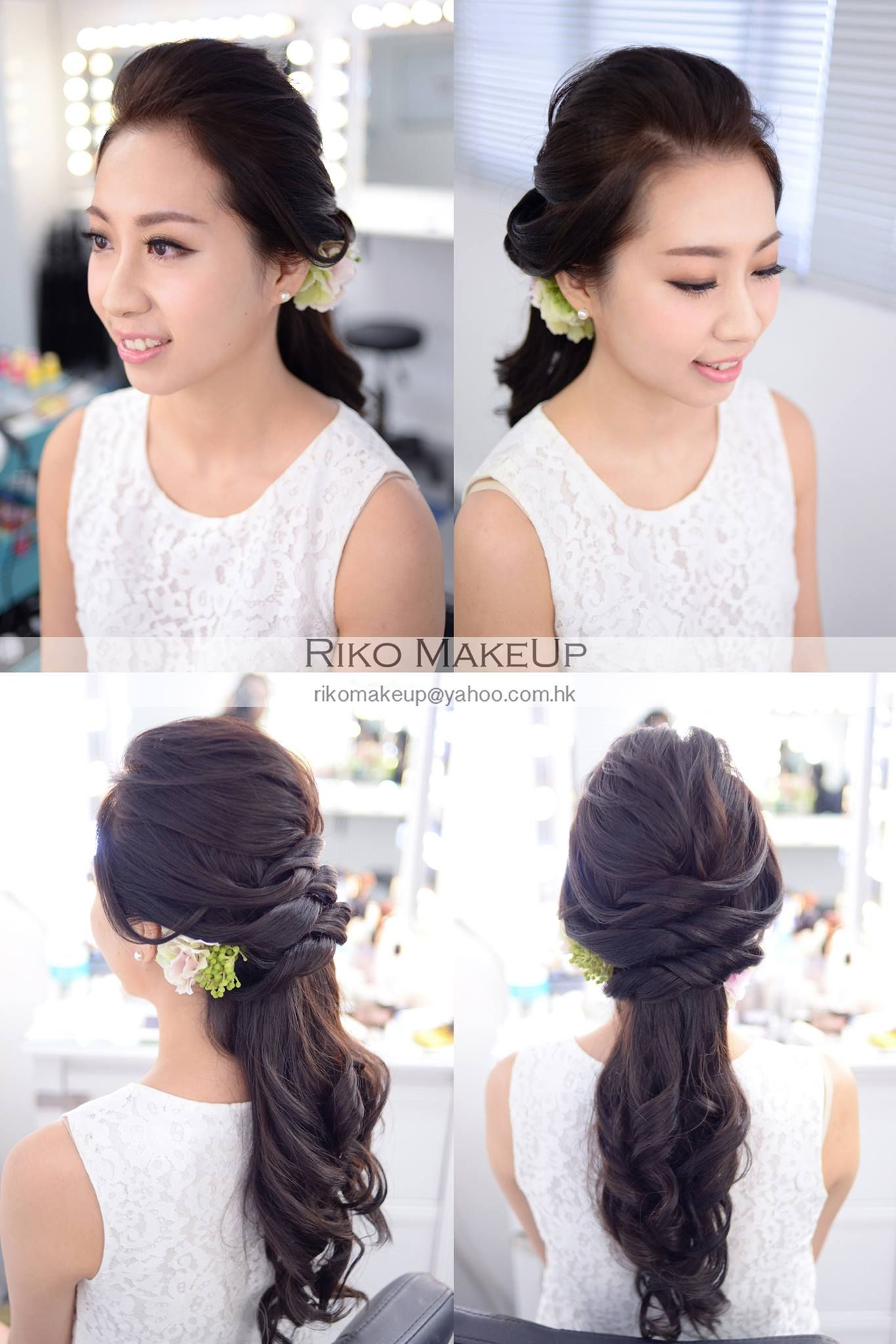 Braids, up-do, bun, Asian, wedding, hair | Hair | Pinterest | Asian ...
