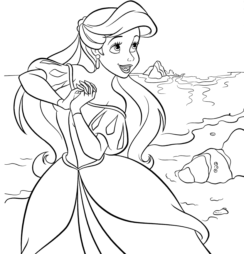 Ariel Colouring Pages 3 Ariel Coloring Pages Mermaid Coloring Pages Disney Coloring Pages