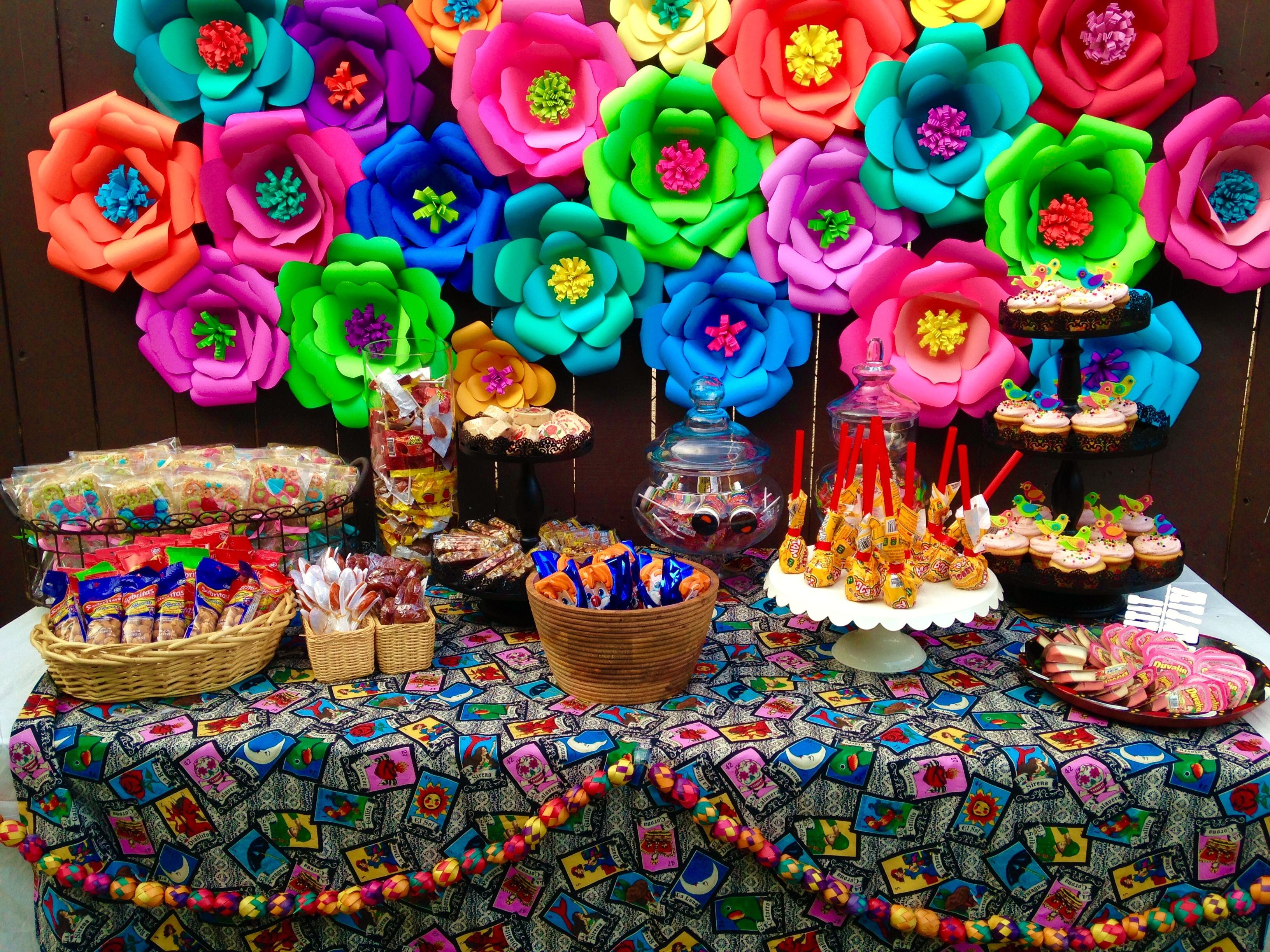 Mexicn fiesta themed candy bar quinceanera pinterest for Mexican party decorations