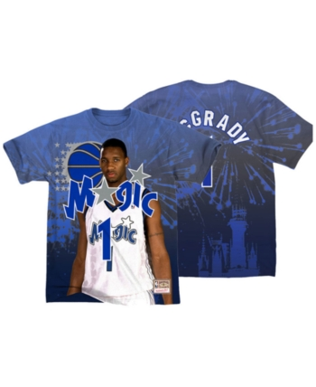 66eaf87ec28932 Mitchell & Ness Men's Tracy McGrady Orlando Magic City Pride Name And  Number T-
