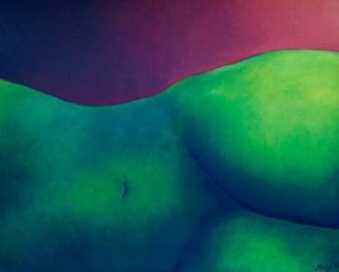 "Saatchi Art Artist Claudia Arbizú; Painting, ""GREEN WOMAN"" #art"
