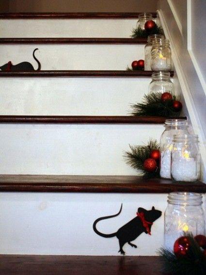 Decoracion de navidad para escaleras buscar con google for Adornos para escaleras