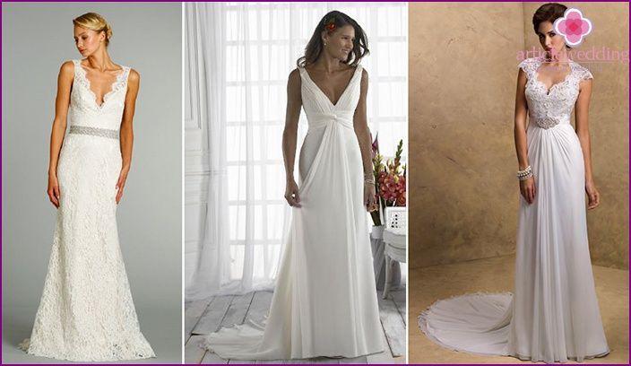 faf616adad63 Výsledok vyhľadávania obrázkov pre dopyt jednoduche svadobne saty na grecky  spôsob