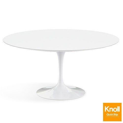 Saarinen Inch Round Dining Table White Laminate Quick Ship - Saarinen round dining table 60