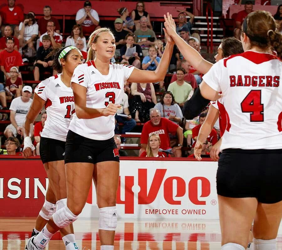 V Ball Female Volleyball Players Badger Volleyball Volleyball